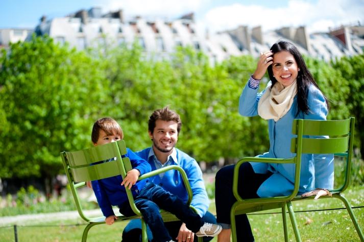 fotos de familia em paris