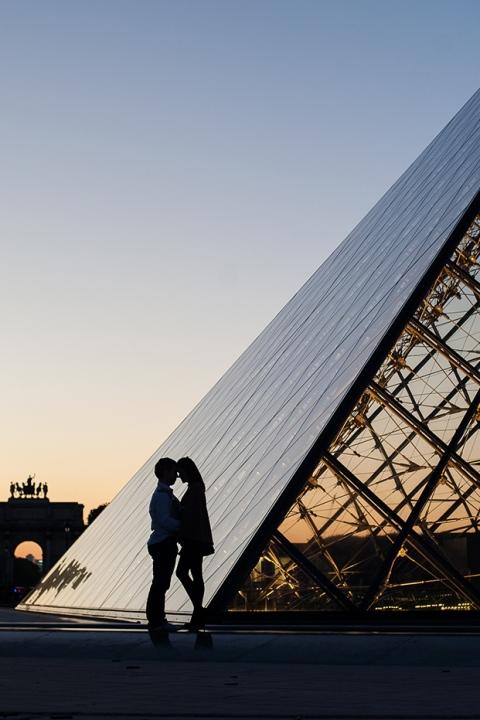 fotografia de lua de mel em paris