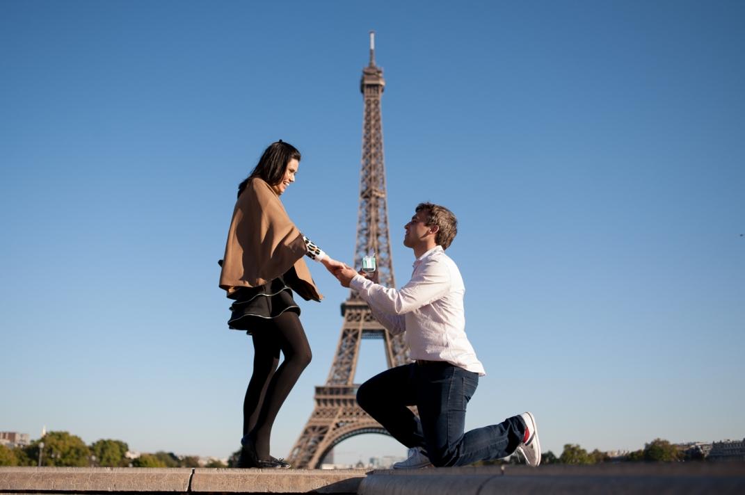 fotos de noivado em paris