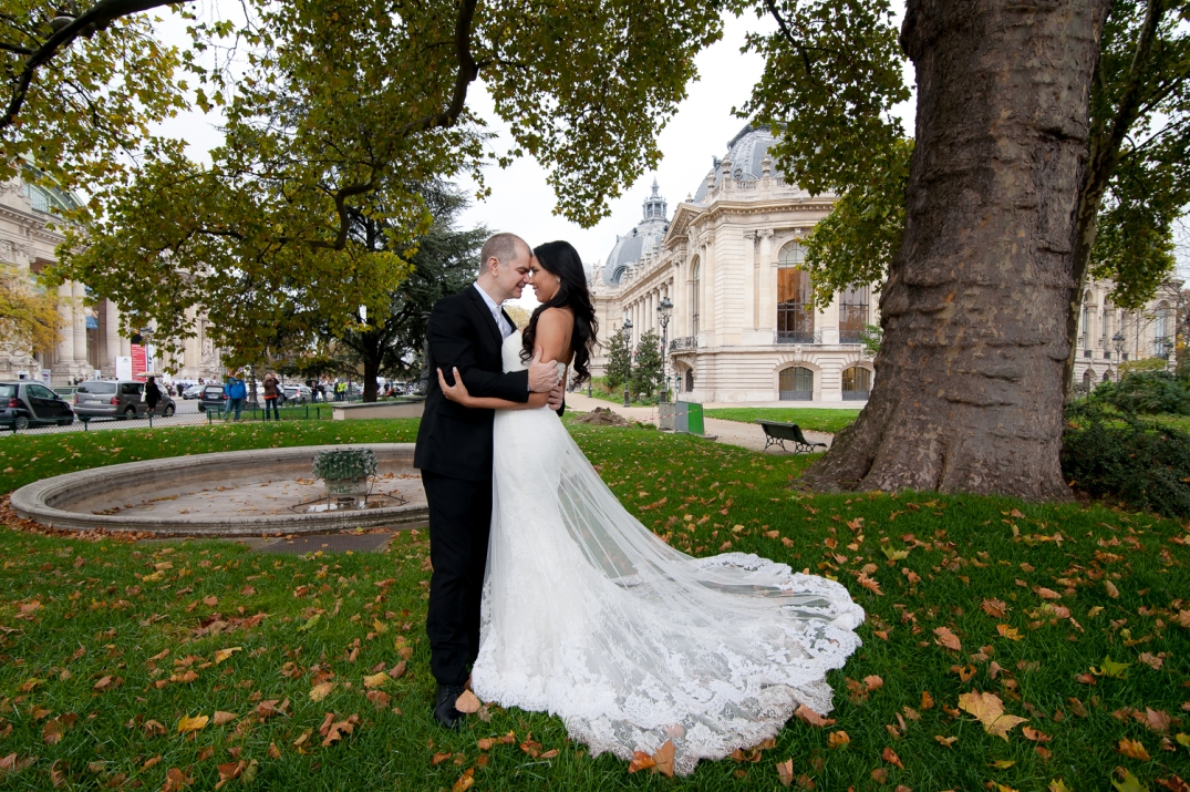 sessao de fotos de noivos em paris
