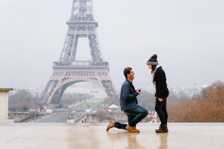 pedido de casamento surpresa em paris