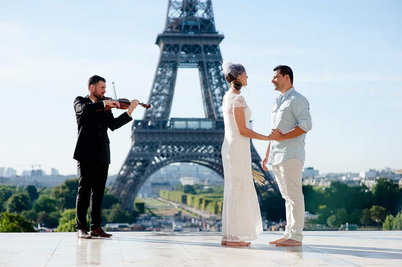 sessao de fotos de casamento em Paris